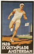 IX Olympic Games in Amsterdam poster (1928)